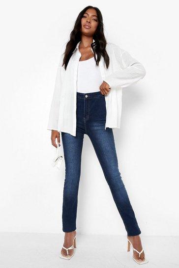 """Blue Tall  38"""""""" Leg High Waist Jeans"""