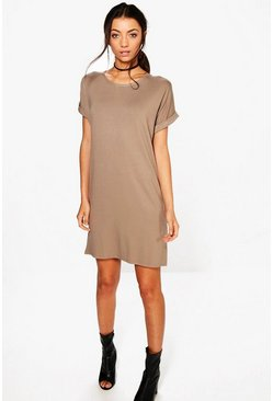 Mocha Tall Oversized T-Shirt Dress