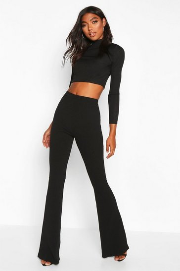 Black Tall Basic Stretch Skinny Flares