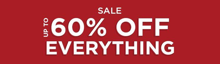 Sale Up To 60% Off Everything