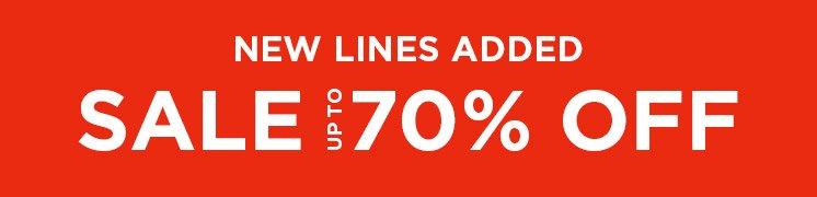 New Lines Added Sale Up To 70% Off