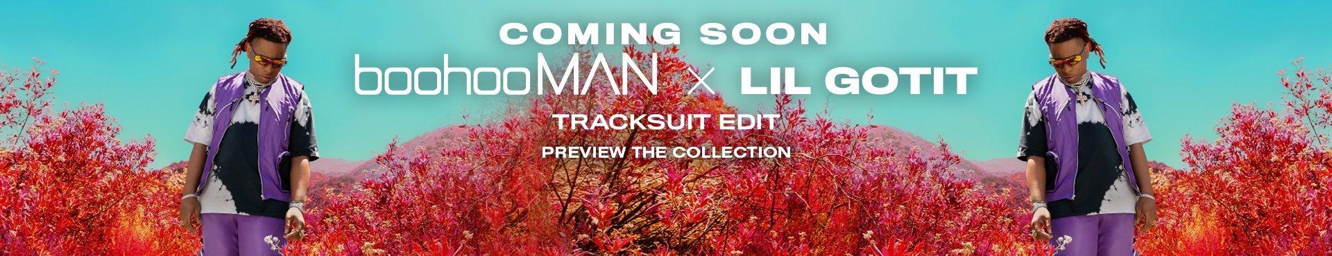 boohooMAN x Lil Gotit Tracksuit Edit